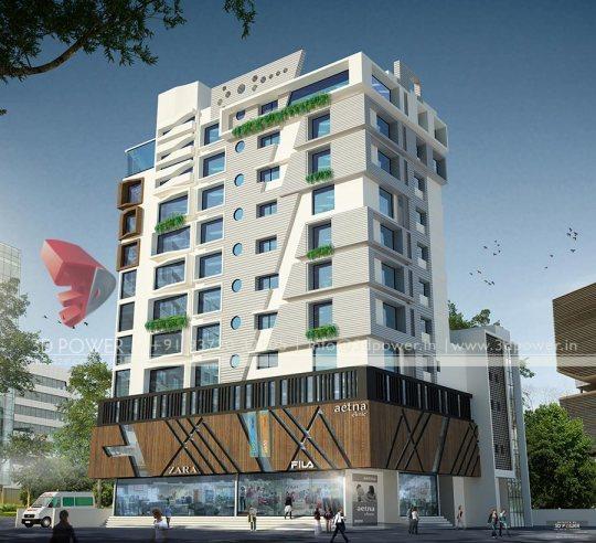 3D Architectural Building Exterior