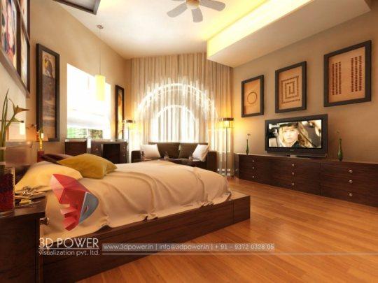 architectural rendering interior 3d bedroom model