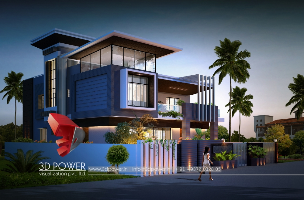 Stylish Bungalows Part - 29: Most Stylish D Views D Power With Stylish  Bungalow Designs